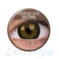 Big Eyes, 2szt. - Gorgeous Brown + gratis płyn